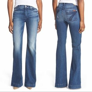 7 Seven For All Mankind Dojo Jeans Denim Blue Wide